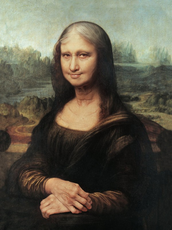La Mona Lisa de anciana