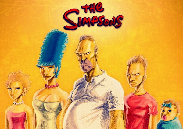 Los Simpson... algo diferentes