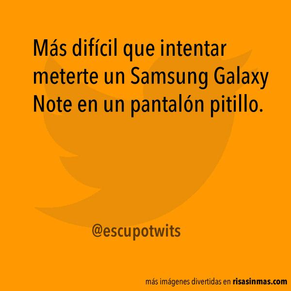 Meterte un Samsung Galaxy Note en un pantalón
