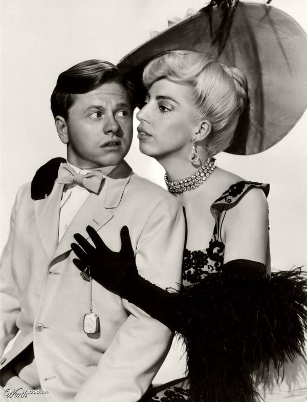 Parejas imposibles: Mickey Rooney y Lady Gaga