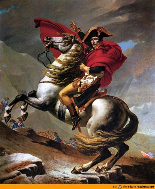 Mierda del WhatsApp en el retrato de Napoleón