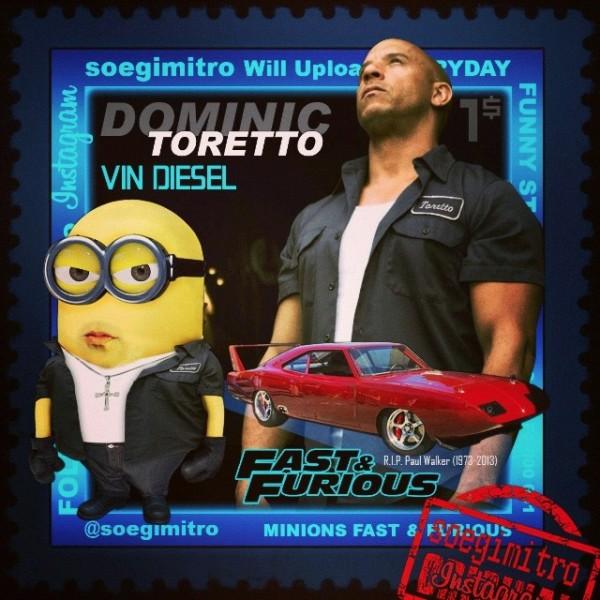 Minion Vin Diesel como Dominic Toretto
