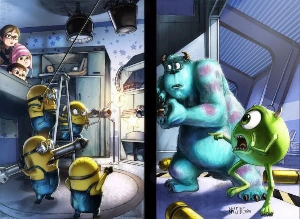 Minions vs Monster Inc