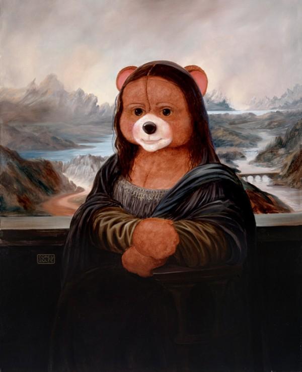 Mona Lisa como un oso de peluche