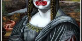 Mona Lisa como un payaso