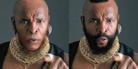 Mr. T con y sin barba