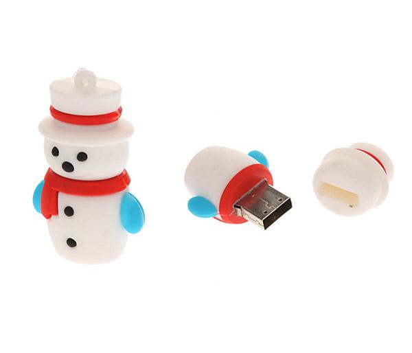 Muñeco de nieve pendrive USB