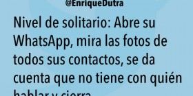 Nivel de solitario: WhatsApp