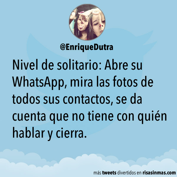 Nivel de solitario: WhatsApp