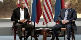 Obama y Putin esforzándose por ser amigos