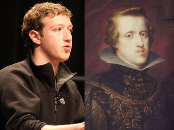 Parecidos razonables: Mark Zuckerberg y Felipe IV