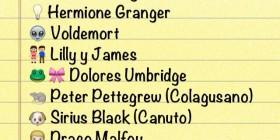 Personajes de Harry Potter en emoticonos del WhatsApp