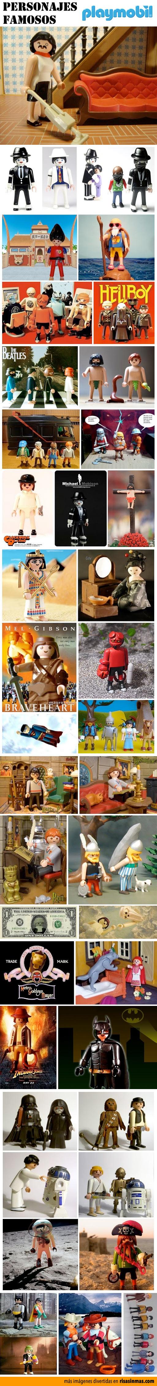 Personajes famosos versión Playmobil