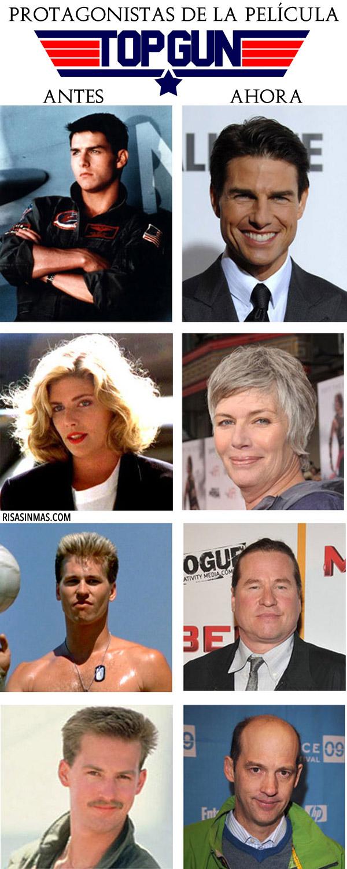 Protagonistas de la película Top Gun