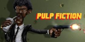 Caricatura de Samuel Jackson en Pulp Fiction