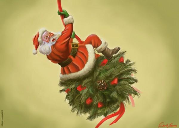 Santa Claus como Miley Cyrus