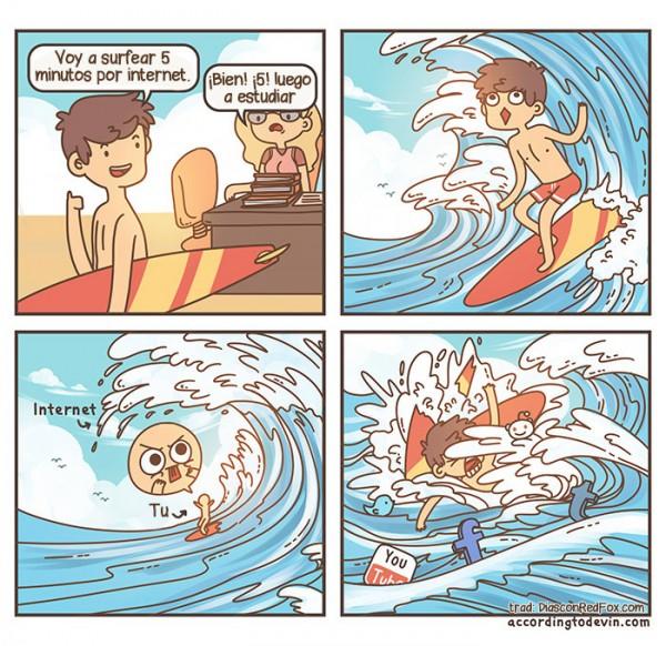 Surfear cinco minutos en Internet