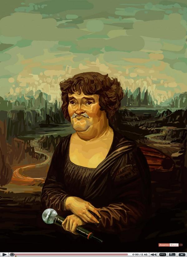 Susan Boyle como la Mona Lisa