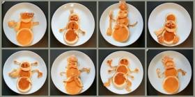 Tortitas muñecos de nieve