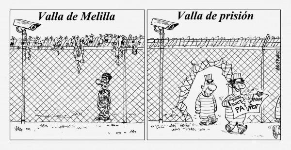 Valla de Melilla y Valla de prisión