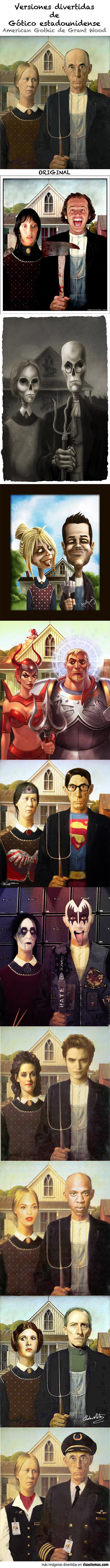 Versiones divertidas de Gótico estadounidense