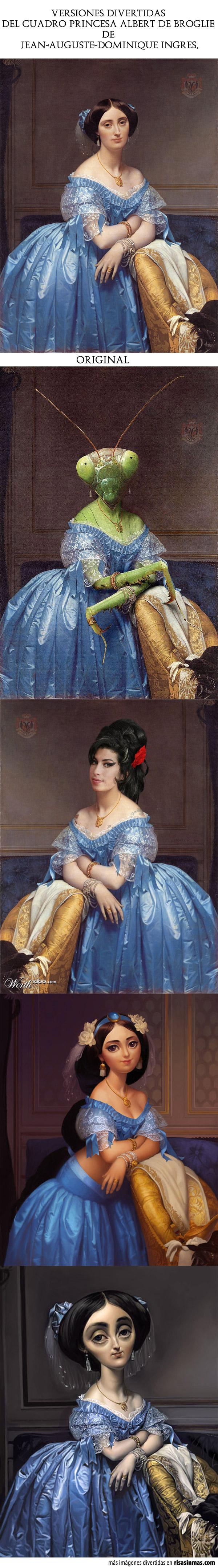 Versiones divertidas del cuadro Princesa Albert de Broglie