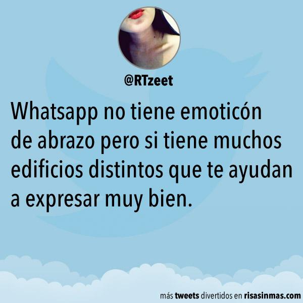 Whatsapp no tiene emoticón de abrazo