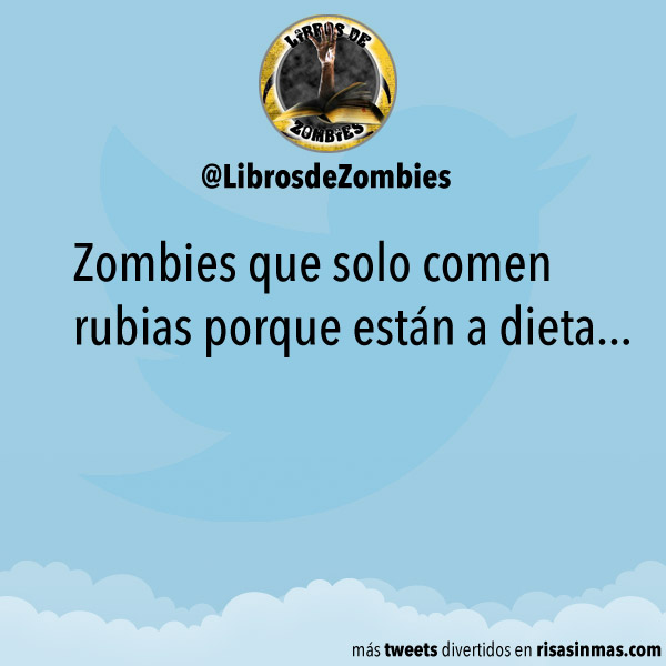 Zombies que comen rubias