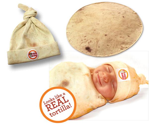 Tu bebé envuelto en tortilla