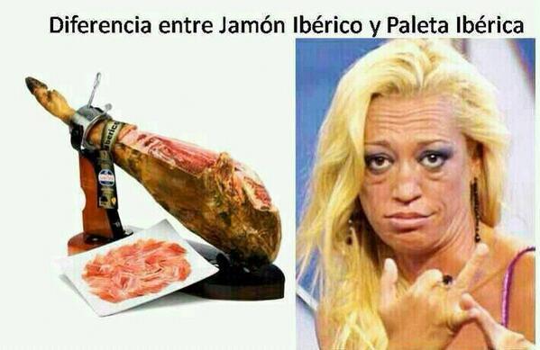 Diferencia entre jamón ibérico y paleta ibérica