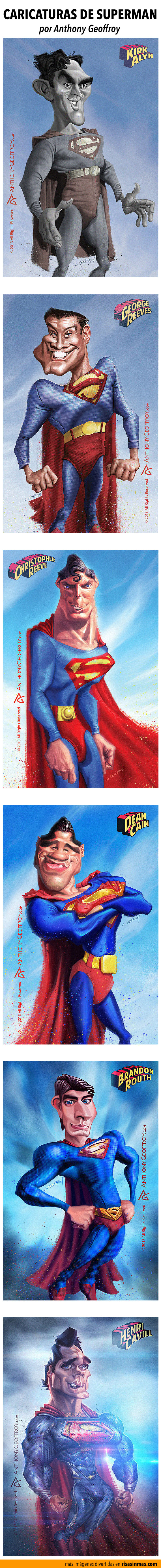 Caricaturas de cada actor de Superman