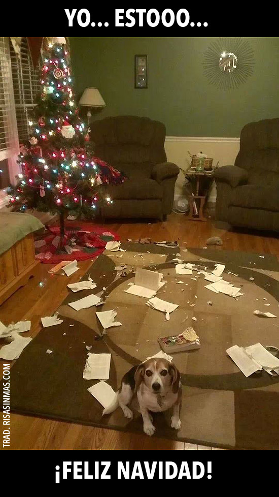 Yo... estooo... ¡Feliz Navidad!