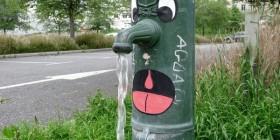Arte callejero: una fuente divertida