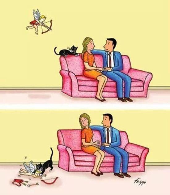 El gato que atrapó a Cupido