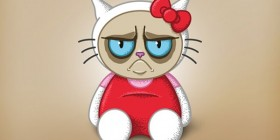 Grumpy Cat como Hello Kitty