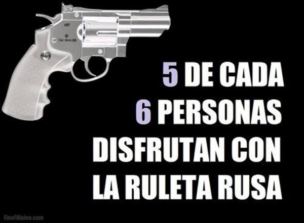 Humor negro: ruleta rusa