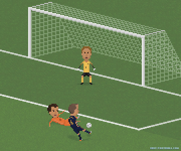 El gol de Andrés Iniesta en 8 bits