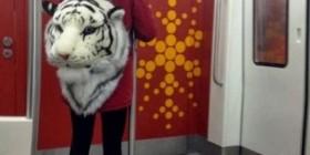 Mientras tanto en un metro japonés