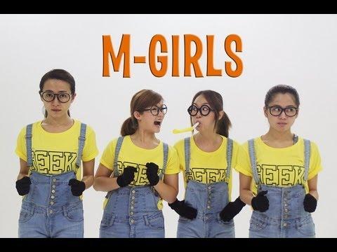 M-Girls cantan la canción de los Minions