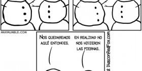 Conversación de dos muñecos de nieve