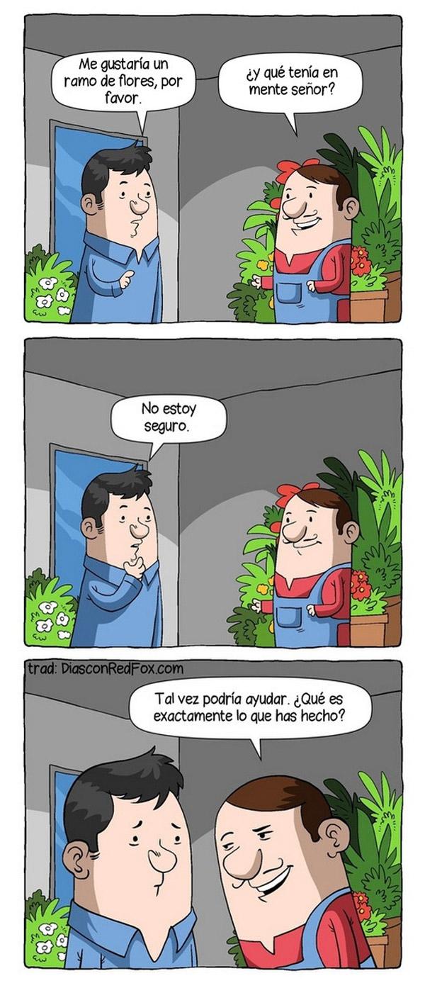 Un ramo de flores, por favor