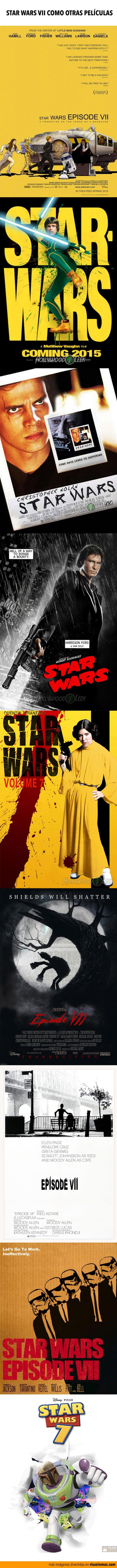 Carteles de Star Wars VII imaginados como otras películas