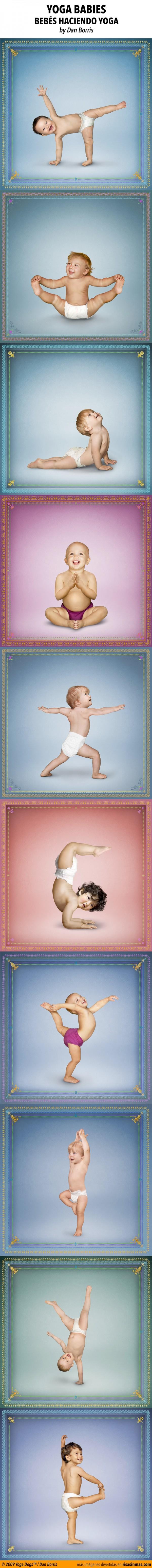 Yoga babies, bebés haciendo yoga