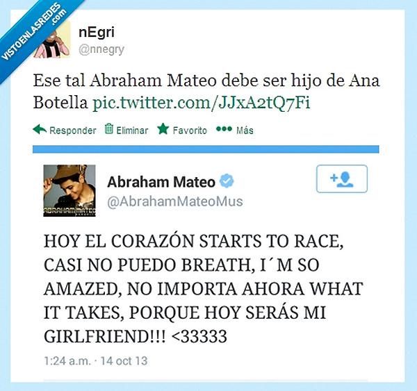 Abraham Mateo debe ser hijo de Ana Botella