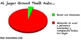 Al jugar Grand Theft Auto...