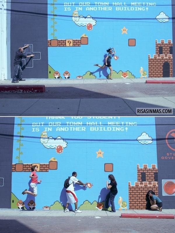 Arte callejero Mario Bros