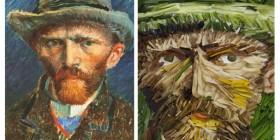 Autorretrato de Vincent Van Gogh con puerros