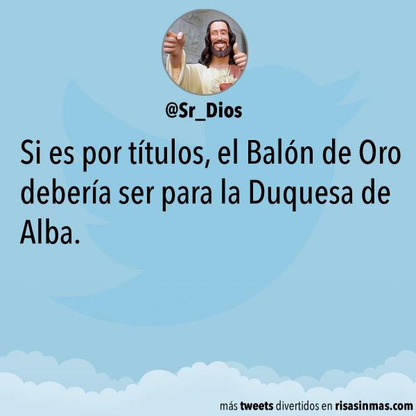 Balón de oro para la Duquesa de Alba