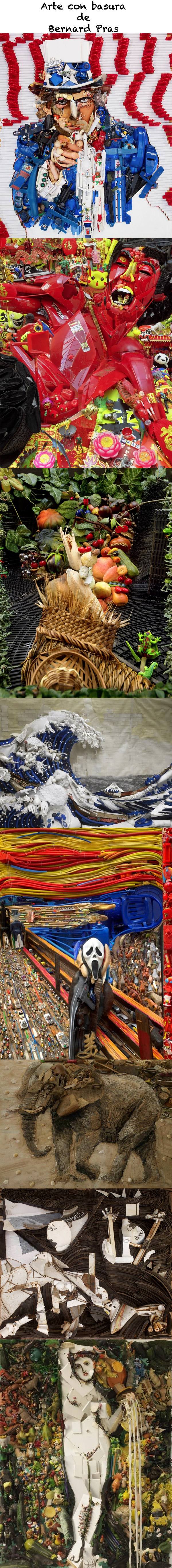 Bernard Pras y su arte hecho con basura