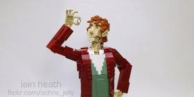Bilbo y Gollum hechos con LEGO